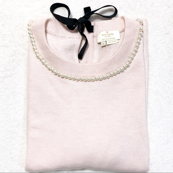 kate spade Sweaters - KATE SPADE Round Neck/Pearls Short Sleeves